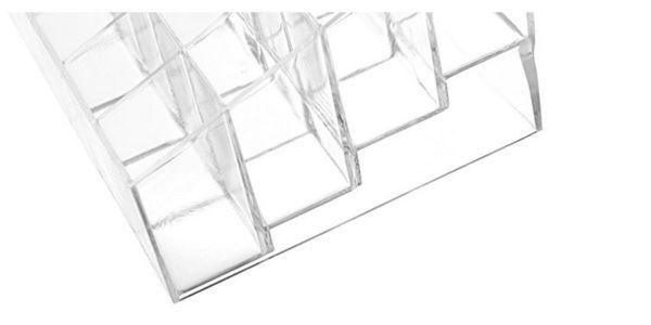 透明口紅指甲油架階梯型24格大