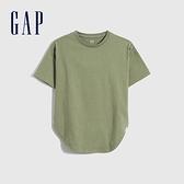 Gap女童 純棉質感厚磅短袖T恤 728128-綠色