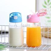 玻璃吸管杯 帶成人便攜孕婦產婦月子帶蓋韓國可愛網紅水杯ins透明 卡菲婭