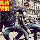 男長袖針織衫熱銷焦點-優質隨性韓國流行男裝2色53k6【巴黎精品】