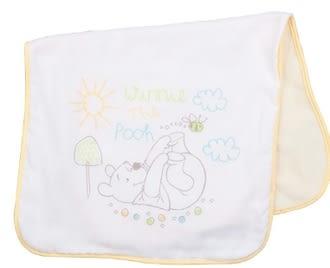 【ViVibaby】 Disney 維尼熊雙面澡巾 (黃) DBT92002Y