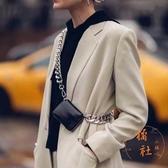 包包女粗鏈條腰包時尚斜背零錢胸包迷你【橘社小鎮】
