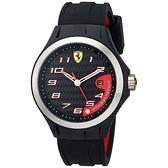 【Ferrari 法拉利】急速奔馳碳纖維面盤設計時尚橡膠腕錶-黑面款/FA0830012/台灣總代理享兩年保固