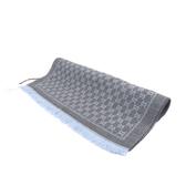 【GUCCI】GG LOGO羊毛圍巾(灰藍) 411115 3G200 1369
