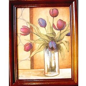 《鬱金香tulip》原木鑰匙盒keybox壁飾寬x高22x28cm厚度6.5cm