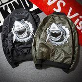 空軍夾克MA1 立領 鯊魚印花飛行員男軍裝外套2 色73pf12 ~巴黎 ~