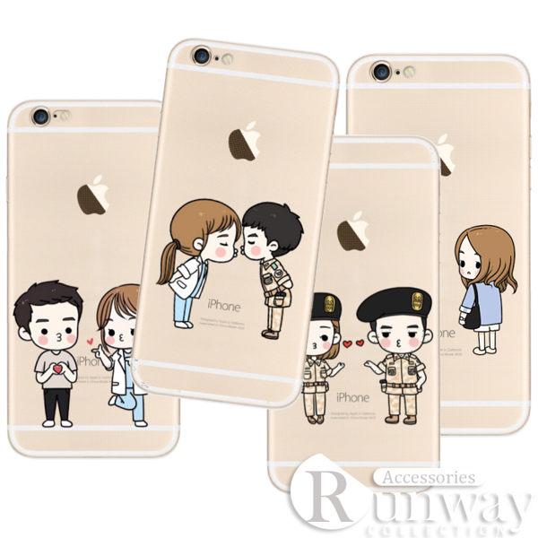 【R】太陽的後裔 韓 Q版 卡通 創意 娃娃 iphone6 6s 6plus 手機殼 保護套 6S 蘋果 TPU 軟殼