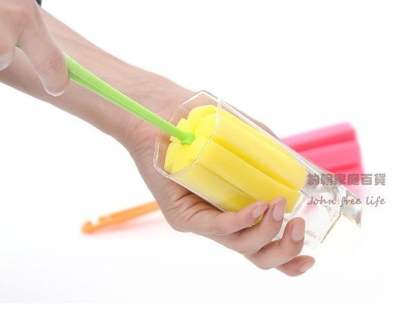 海綿杯刷 奶瓶刷洗杯刷 顏色隨機出貨【AG770】《約翰家庭百貨