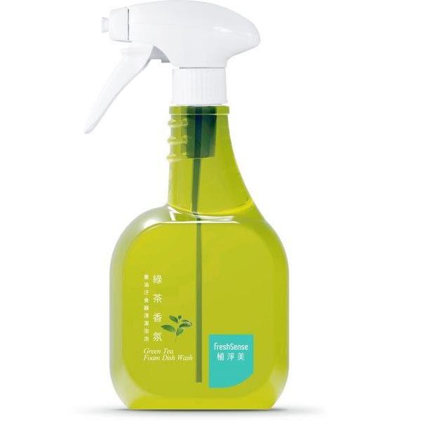 植淨美草本重油汙食器清潔泡泡550ml-綠茶香氛