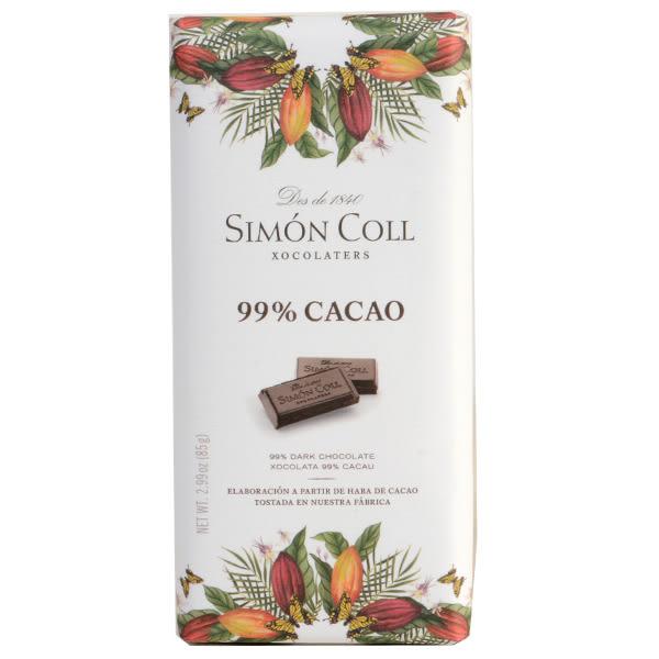 西班牙【Simon Coll】 黑巧克力片99% 85g