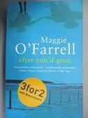 【書寶二手書T5/原文小說_GK1】After You'd Gone_Maggie O'Farrell