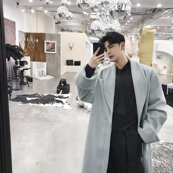 FINDSENSE G6 韓國時尚 秋冬復古闊袖口寬鬆紙片人清新呢大衣