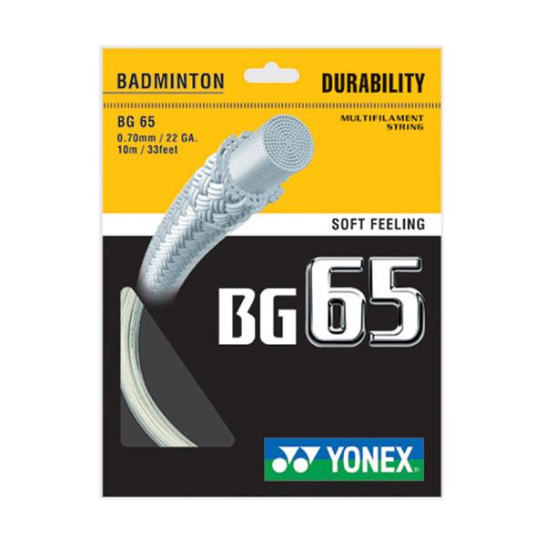 Yonex Bg-65 Badminton String [BG65-011] 羽線 鈦金屬 日本製 優乃克 白