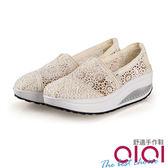 休閒鞋 浪漫絮語蕾絲透膚搖搖鞋(米白)*0101shoes  【18-9004mi】【現+預】