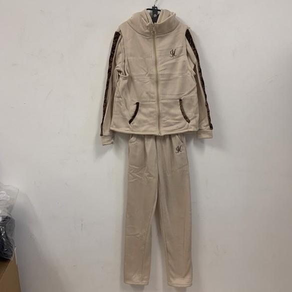 新款時尚加絨休閒長袖T恤背心休閒褲三件式套裝(L號/777-7788)