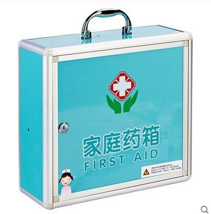 俊葳 家用藥箱 急救箱 家用壁挂式藥箱 醫藥箱家用箱-炫彩店(E014-藍色)