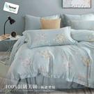 《DUYAN竹漾》100%天絲-雙人床包枕套三件組-微漾霓晶