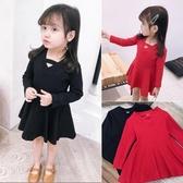 (交換禮物)女童禮服 中小童兒童公主裙韓版裙子禮服裙時尚長袖連身裙