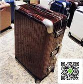 行李箱萬向輪20登機箱鋁框拉桿箱24密碼箱女男旅行箱28寸  igo  玫瑰女孩