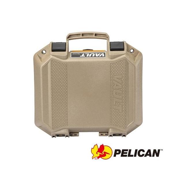 【南紡購物中心】PELICAN V100C Vault Equipment 小型氣密箱 含泡棉(沙)