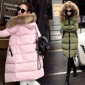 羽絨外套 中長款-時尚連帽顯瘦保暖女夾克4色73it218[時尚巴黎]