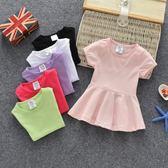 洋裝 嬰兒童裙寶寶連身裙小童裙子純棉 巴黎春天