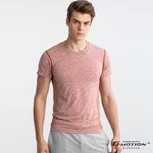 【GIORDANO】男裝G-MOTION運動彈力短袖T恤 - 24 雪花港口紅