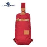 【COLORSMITH】WAY・雙開式單肩後背包-紅色・WAY1356-RE