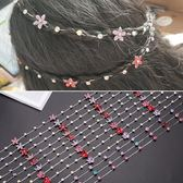 韓國兒童編發鏈女童寶寶合金水鉆盤發鏈條發飾小女孩公主鏈頭飾品 滿天星