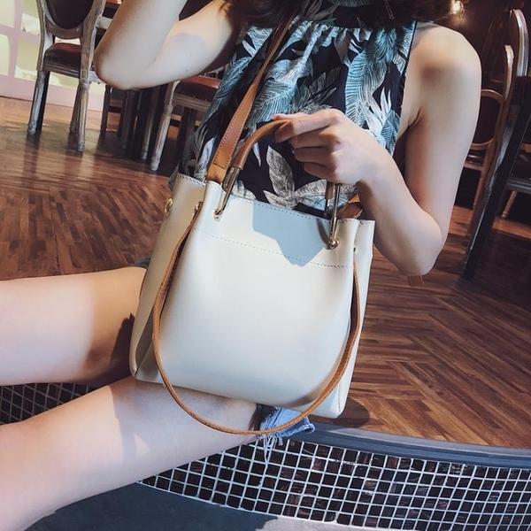 手提包包女2020新品潮正韓百搭斜挎包簡約時尚單肩包大容量水桶包【快速出貨】