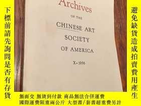 二手書博民逛書店Archives罕見of Chinese Art Society
