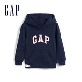 Gap 女幼童 Logo棉質亮色連帽衫 567905-海軍淺藍