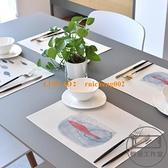 【4片裝】餐墊隔熱墊西餐墊家用防燙防油防水日式北歐碗墊子餐桌墊【輕派工作室】