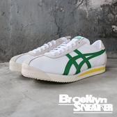 ONITSUKA TIGER CORSAIR 白綠黃 麂皮 復古慢跑鞋 男 (布魯克林) 2019/3月 1183A357101