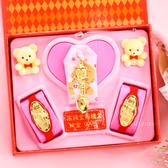 金寶珍銀樓-博士金湯匙-彌月金飾音樂禮盒(0.20錢)