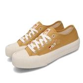 Fila 休閒鞋 C910T 黃 白 女鞋 運動鞋 低筒 餅乾鞋 【PUMP306】 4C910T991