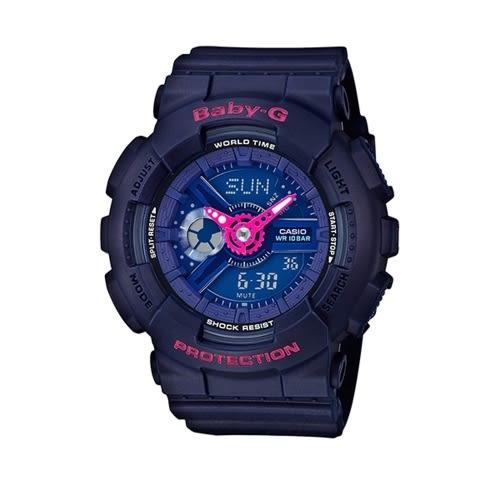 CASIO BABY-G/潮流尖端雙顯運動腕錶/BA-110PP-2ADR