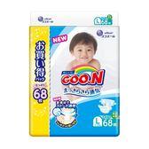 【GOO.N】新版NHK境內版紙尿褲(阿福狗)L68片x3串/箱-箱購