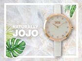 【時間道】NATURALLY JOJO 簡約時尚仕女陶瓷腕錶 / 白貝面晶鑽刻度白陶(JO96909-81R)免運費