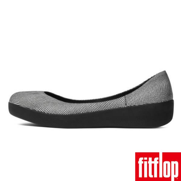 FitFlop™ SUPERBALLERINA™ SUEDE -Black Foil Snakeprint 蛇紋黑