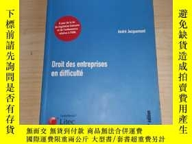 二手書博民逛書店DROIT罕見DES ENTREPRISES EN DIFFICULTEY20717 LITEC LITEC