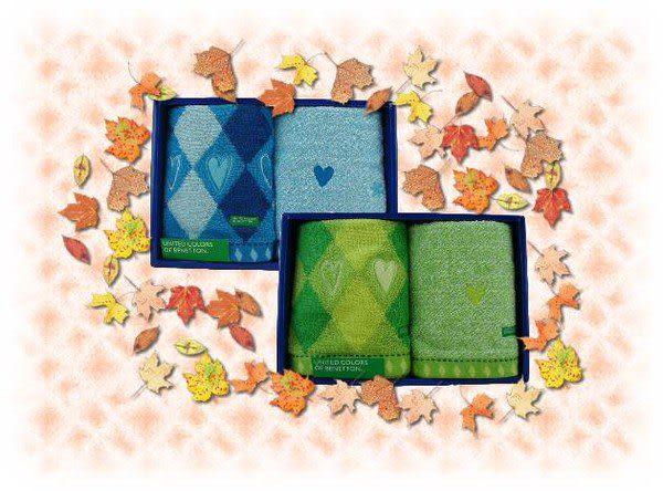 【波克貓哈日網】BENTTON毛巾禮盒  ◇36x35◇  《2色可選》~~不同的花樣與織法各一條