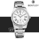 BENTLEY 賓利 / BL1615-100002 / 羅馬 藍寶石水晶玻璃 秒針視窗 日本機芯 德國製造 不鏽鋼手錶 銀色 32mm