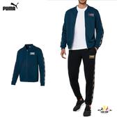 Puma Holiday 男 深藍 外套 立領外套 側邊LOGO 棉質 基本系列 運動 休閒 長袖外套 58176738