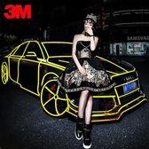 (45M)3M汽車反光貼紙車身裝飾條自行車貼夜光反光膜爆裂輪轂改裝寬1.5CM·樂享生活館