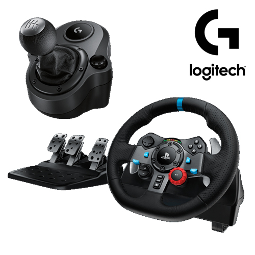 Logitech 羅技 G29 DRIVING FORCE 賽車方向盤 + DRIVING FORCE SHIFTER 變速器