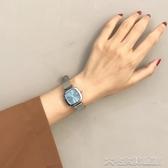 細帶精緻韓風復古chic石英手錶女方形氣質網帶練條   大宅女韓國館韓國館