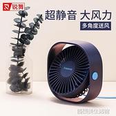 銳舞小風扇USB迷你小型學生桌面宿舍辦公室超靜音大風力臺式桌上散熱風扇