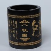 天然竹子雕刻筆筒 高檔商務擺件 時尚創意禮品 個性辦公文化用品