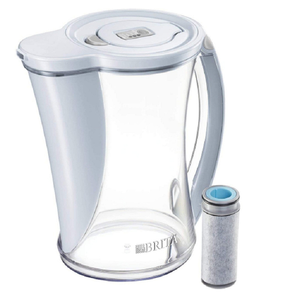 [9美國直購] Brita 水壺 Stream Water Pitcher with 1 Filter, 12 Cup, Ice B078L3ZP9Z
